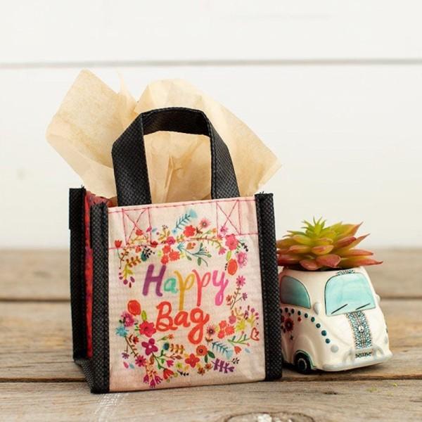 Recycle Tasche Mini Floral Kranz