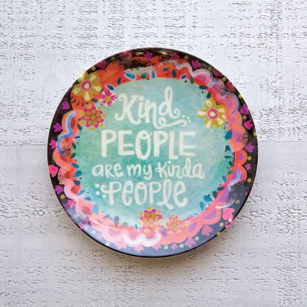 Mini Melamine Plt Kind People Blk
