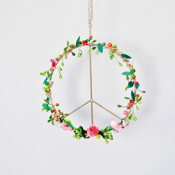 Dekoration Funkel Peace floral S