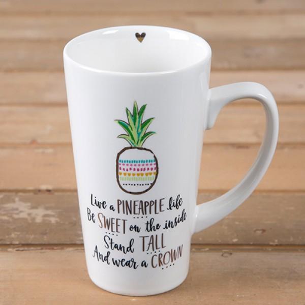 Tasse Latte Live a pineapple life
