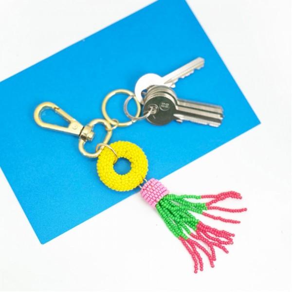 Schlüsselanhänger Bead Tassel 1
