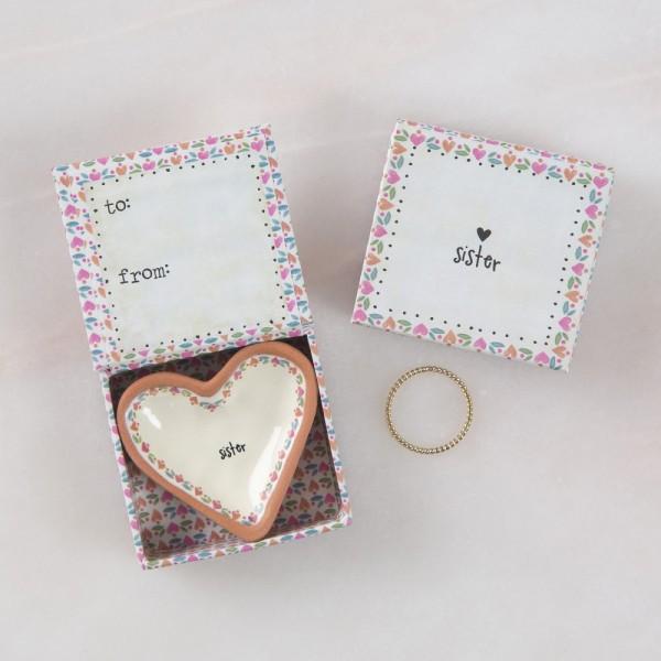 Keramikschälchen Tiny Heart Sisters