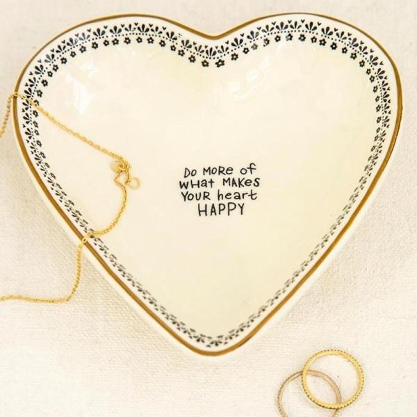 Keramikschälchen Trinket Heart Do More
