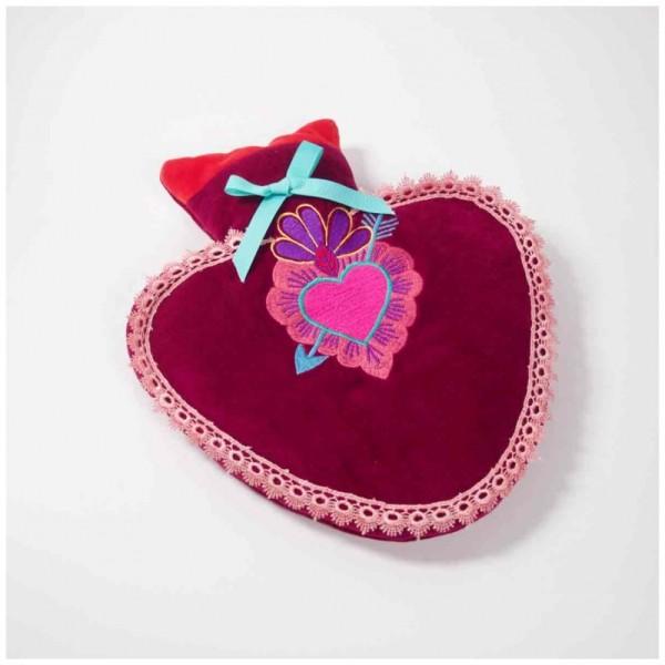 Wärmflasche Heart raspberry