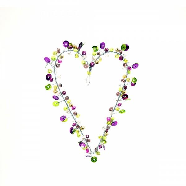 Dekoration Funkel Heart10 viola