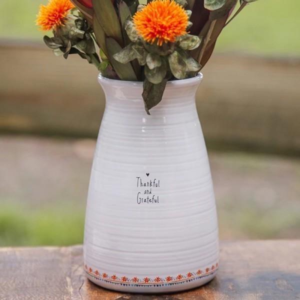 Vase Blumenstrauß Thankful