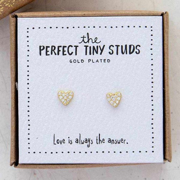 Ohrringe Tiny Studs Heart