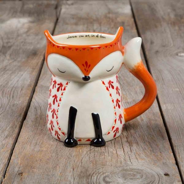 Folk Art Fox Tasse