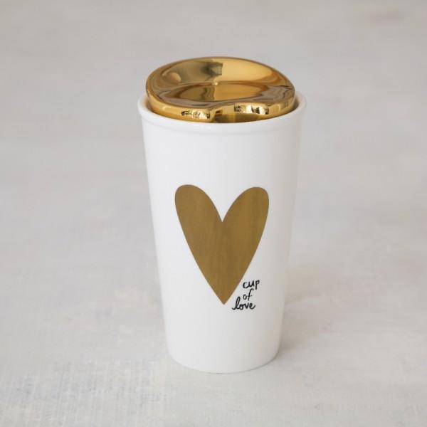Thermobecher Keramik Cup of Love