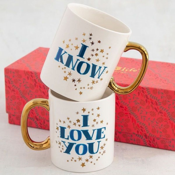 Set of 2 Tassen I Love You