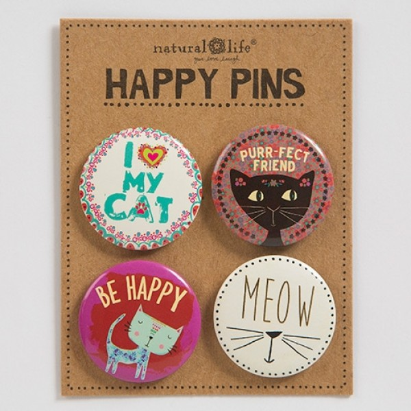 Pin Set Happy Cat