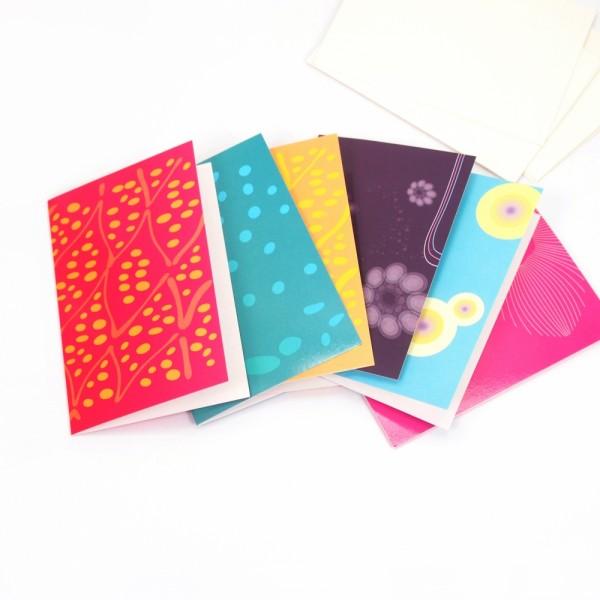 Grußkarte Mini Set6 mit Umschlag