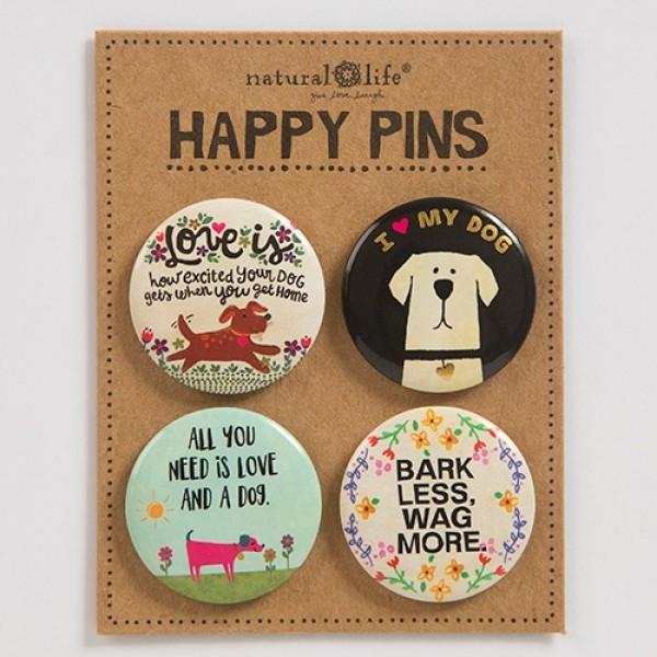 Pin Set Happy Dog