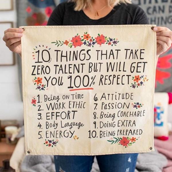 Wandbehang Canvas 10 Things