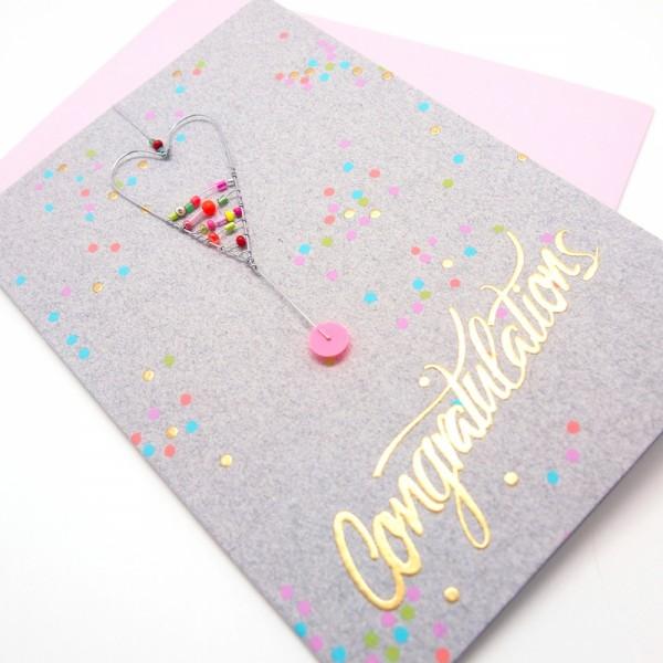 Karte m Umschlag Congratulations