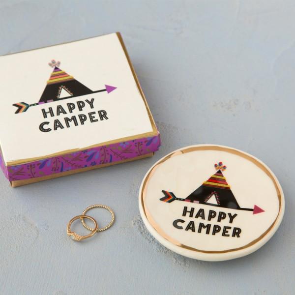 Keramikschälchen Trinket Happy Camper