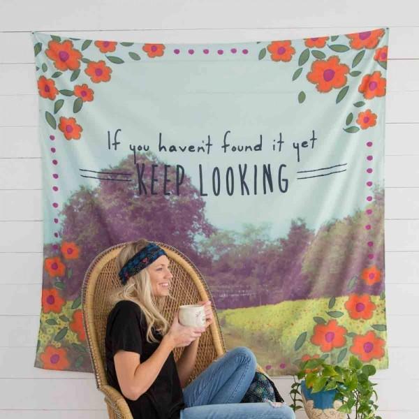 Wandbehang Keep Looking