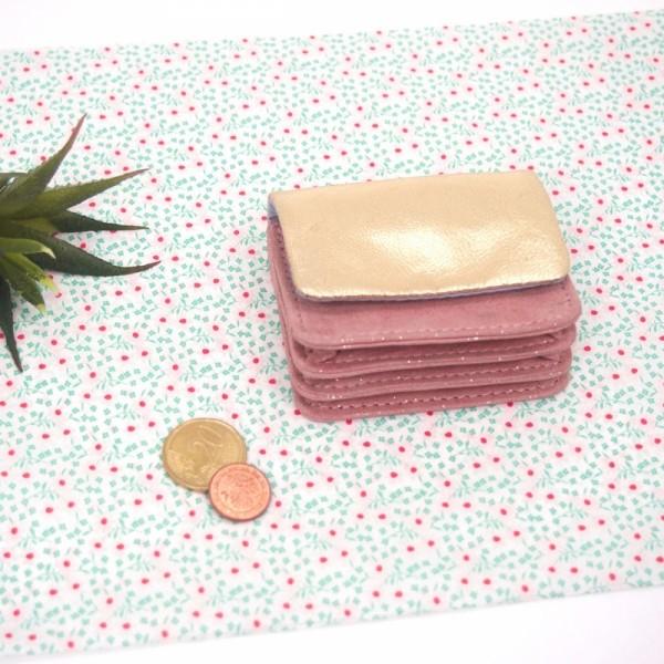 Portemonnaie Micro Leder Golddust