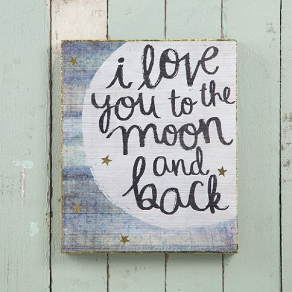 Wandbild I love you Moon