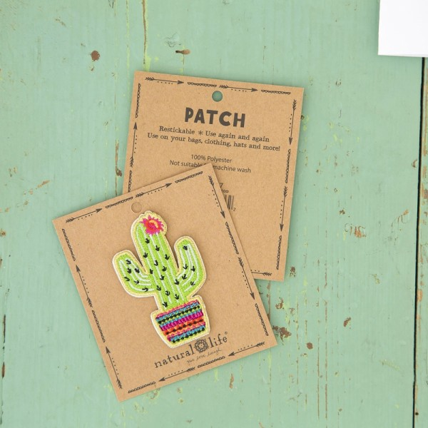 Patch Cactus Lime Pink