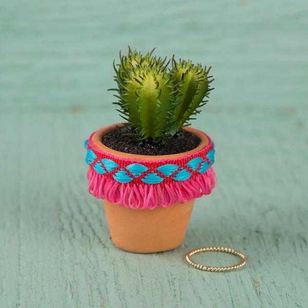 Succulent Hot Pink Fringe