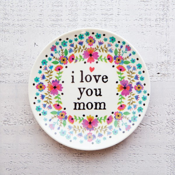 Mini Melamine Plt Love you mom