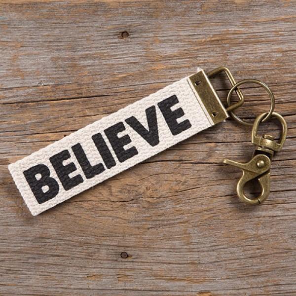 Schlüsselband Canvas Believe