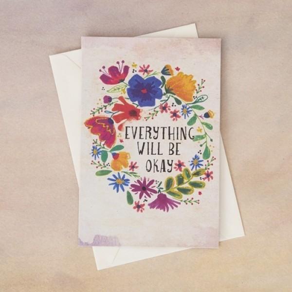 Grußkarte mit Umschlag Everything Will Be OK