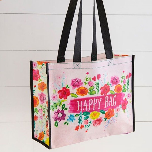 Recycled Bag L Happy Floral