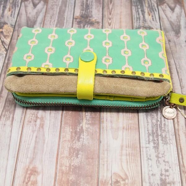 Portemonnaie geometric Crunch mintgreen