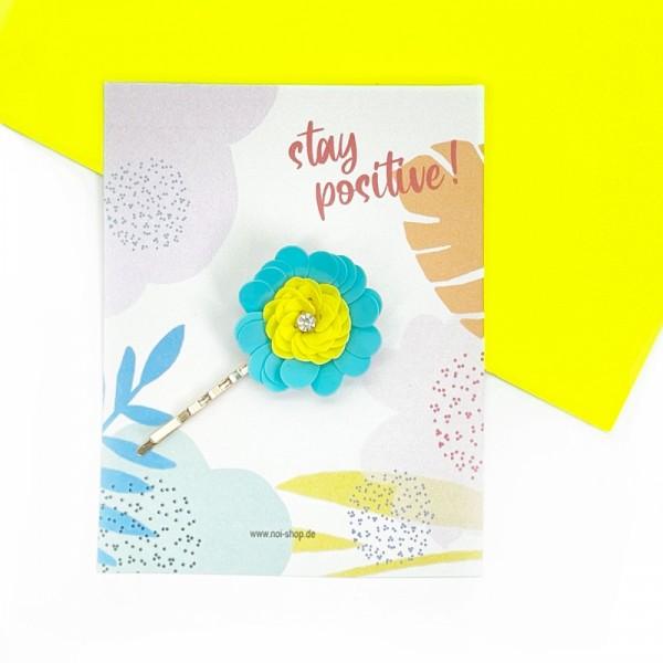 Haarspange Flower sky