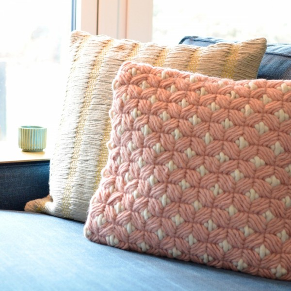 Kissenhülle Woven Classic 4040rustypink