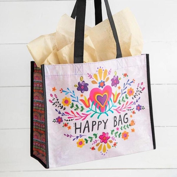 Recycle Tasche L Happy Bag Pink Floral