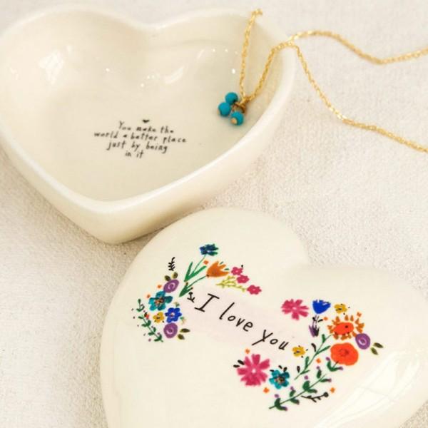 Keramikschälchen Box Heart Love You