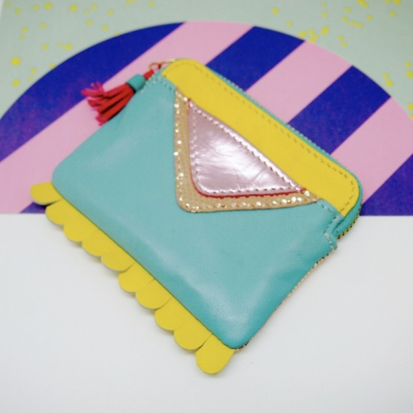 Mini Zip-Täschchen Triangle turk