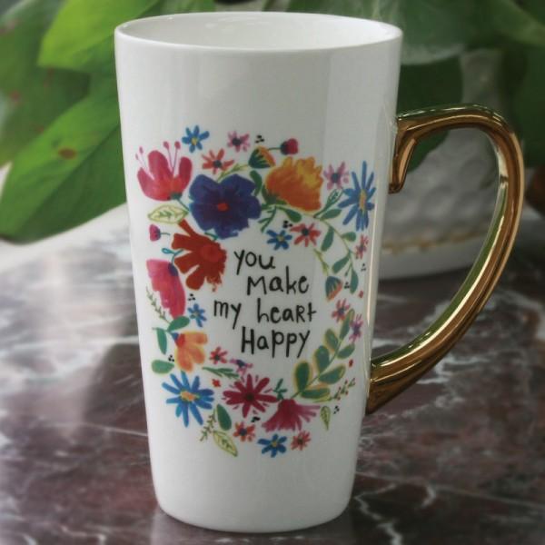 Tasse Latte Be Happy