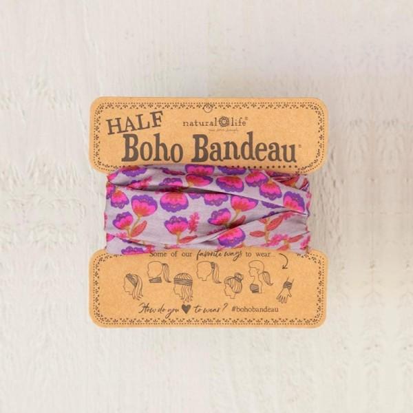 Stirn- und Haarband Boho Bandeau Purple/Pink Tulips