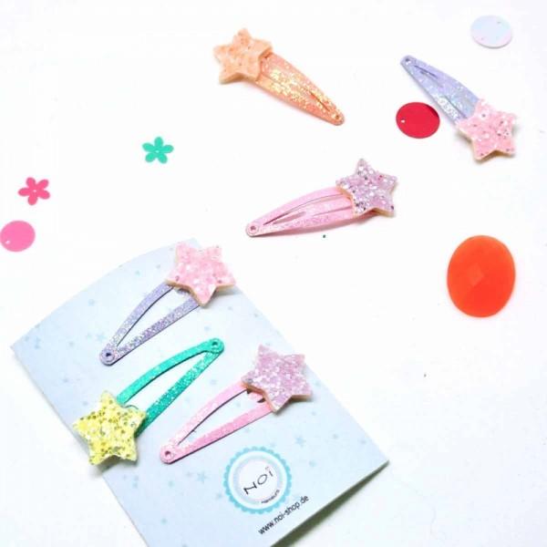 Haarclip Glitter Star Set3