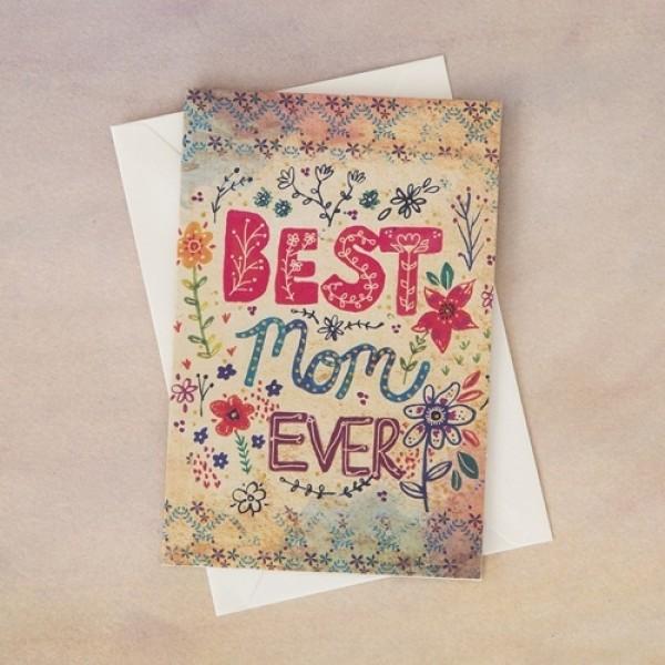 Grußkarte mit Umschlag Best Mom Ever