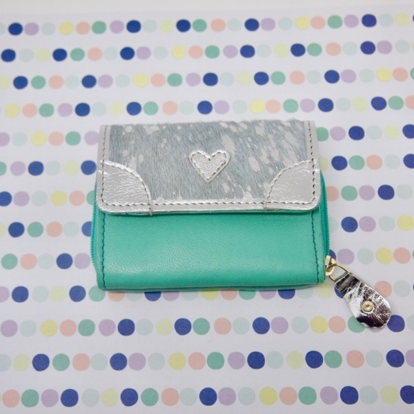 Portemonnaie Mini heart mint