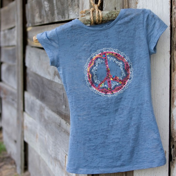 Burnout T-shirt PEACE Größe S