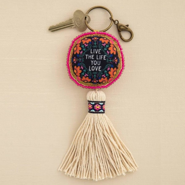 Schlüsselanhänger Mantra Live The Life