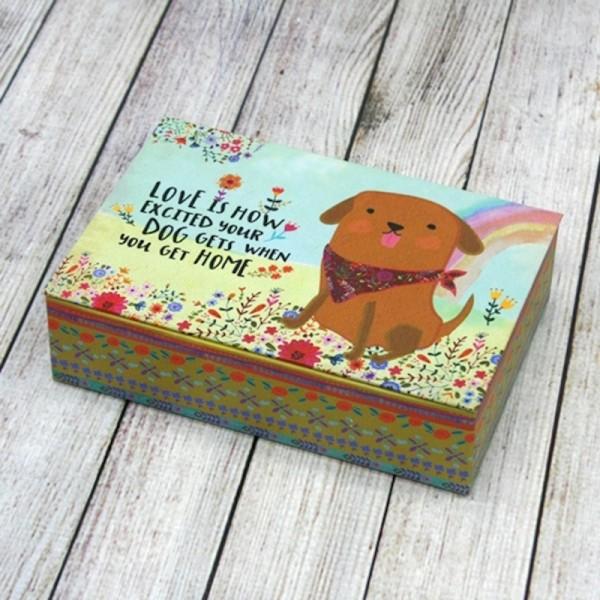 Geschenkbox L Excited Dog