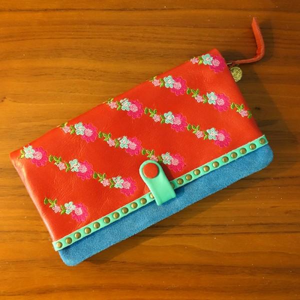 Portemonnaie Florentine zip basic red
