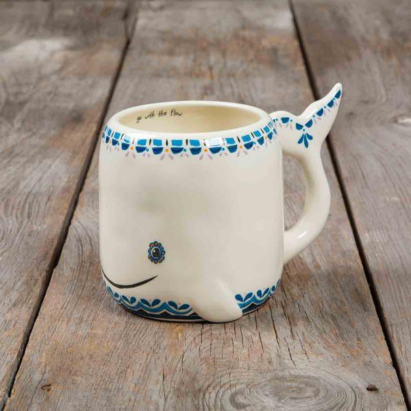 Folk Critter Mug Whale