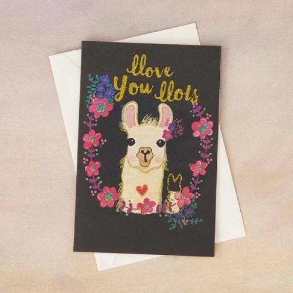 Grußkarte mit Umschlag  Llove You Llots