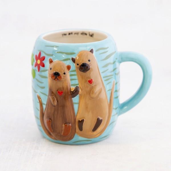 Tasse Folk Art Otter