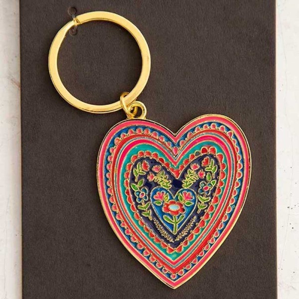 Schlüsselanhänger Enamel Heart