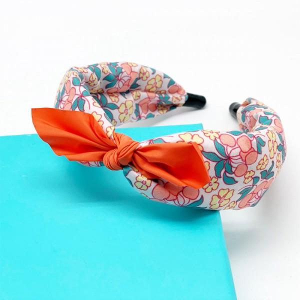 Haarreif Mille Fleur orange
