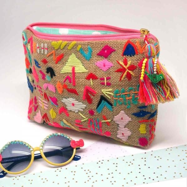 Tasche Zip Goldsparkle multi